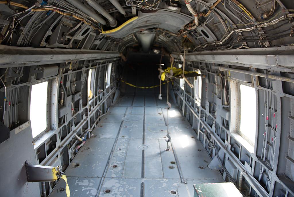 Kabina vojenské helikoptery Sikorsky CH-3E