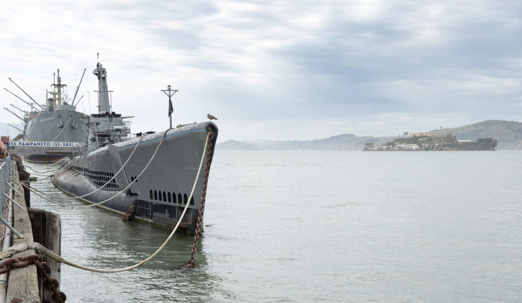 USS 383 Pampanito a Alcatraz