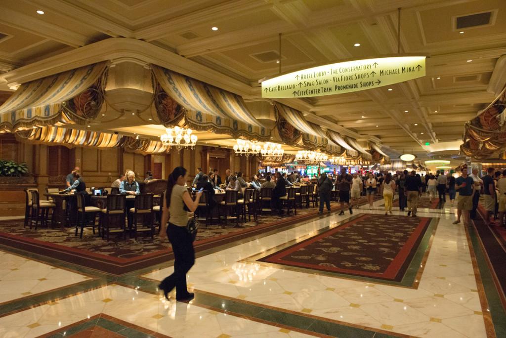 kasíno v hotelu Bellagio