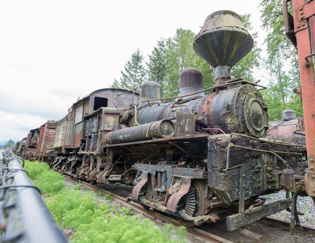 Lokomotiva v Northwest railway museum, Snoqualmie