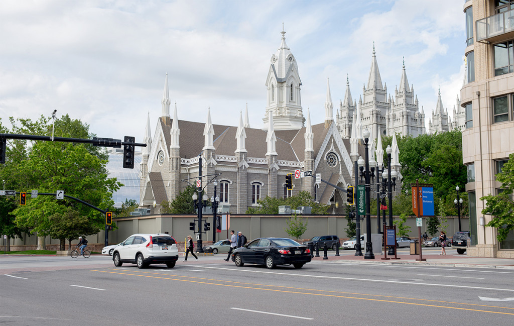 Mormon assembly hall v Salt Lake city