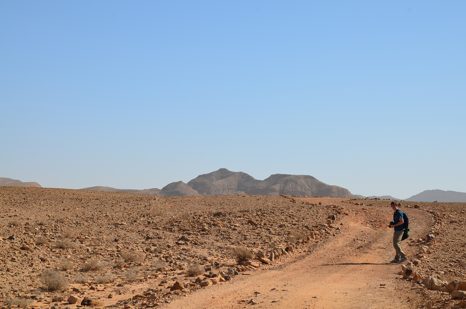 stezka pro jeepy v Negevské poušti