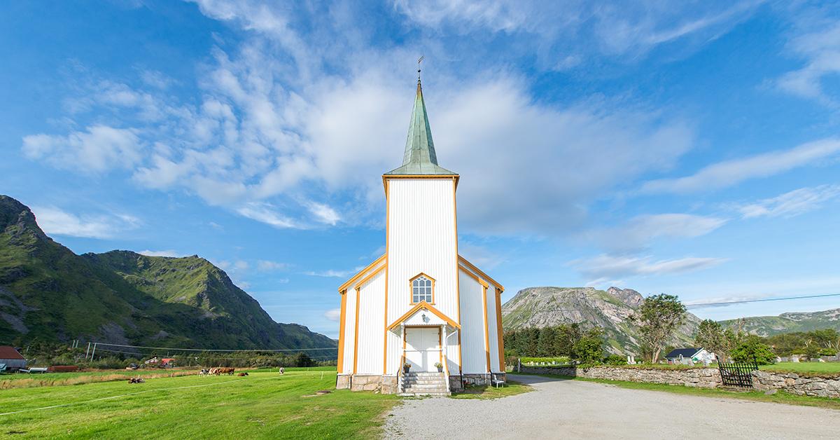 kostel v městečku Valberg