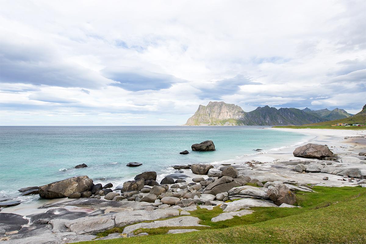 pláž Uttakleiv, Lofoty, Norsko