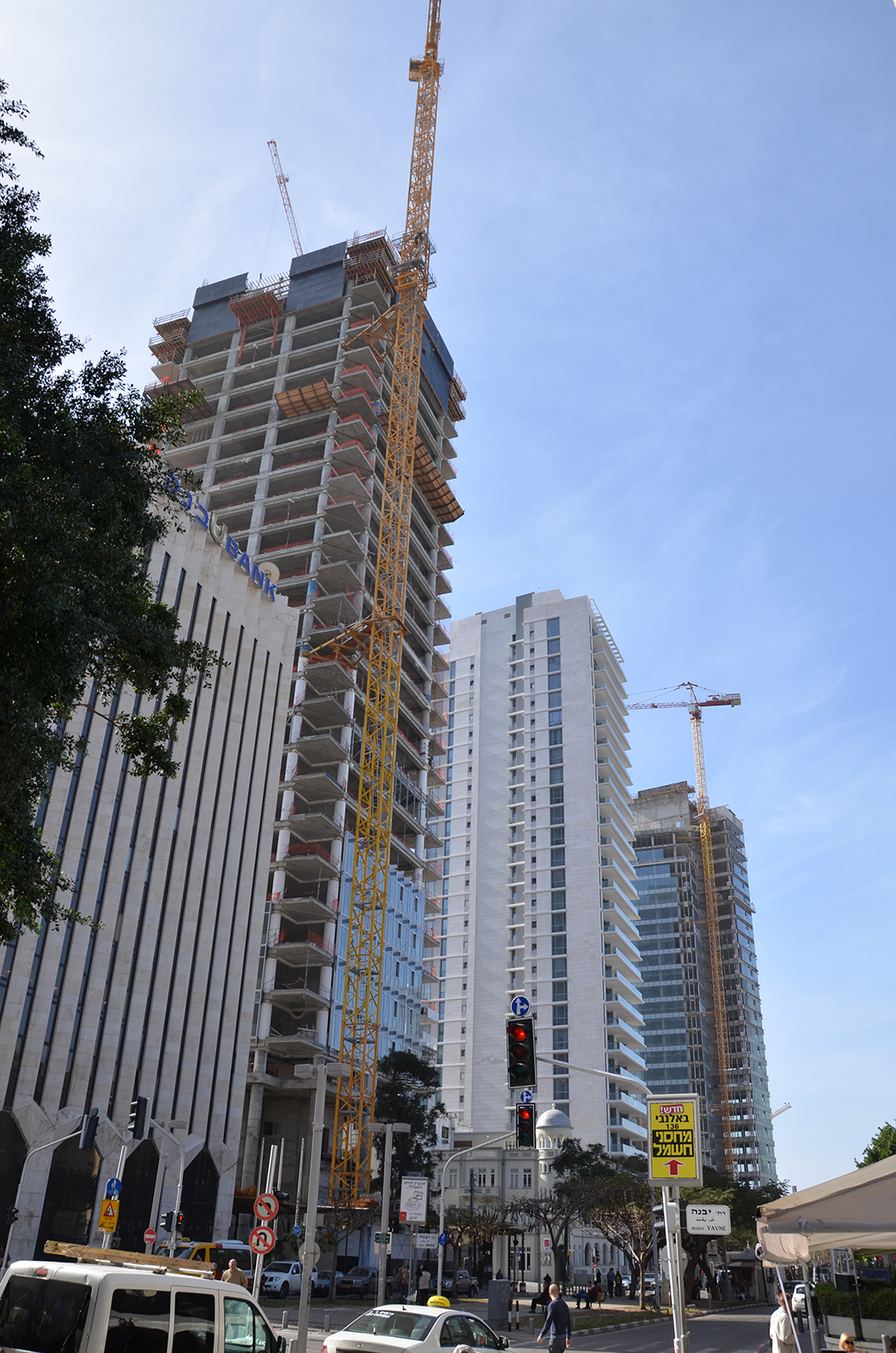 prudká výstavba v Tel-Avivu, Izrael