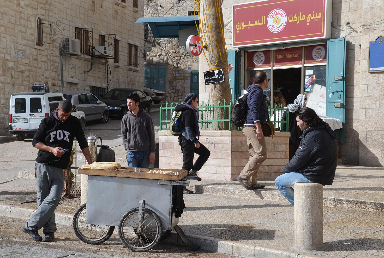 Život na Manger square, Betlém, Západní Břeh