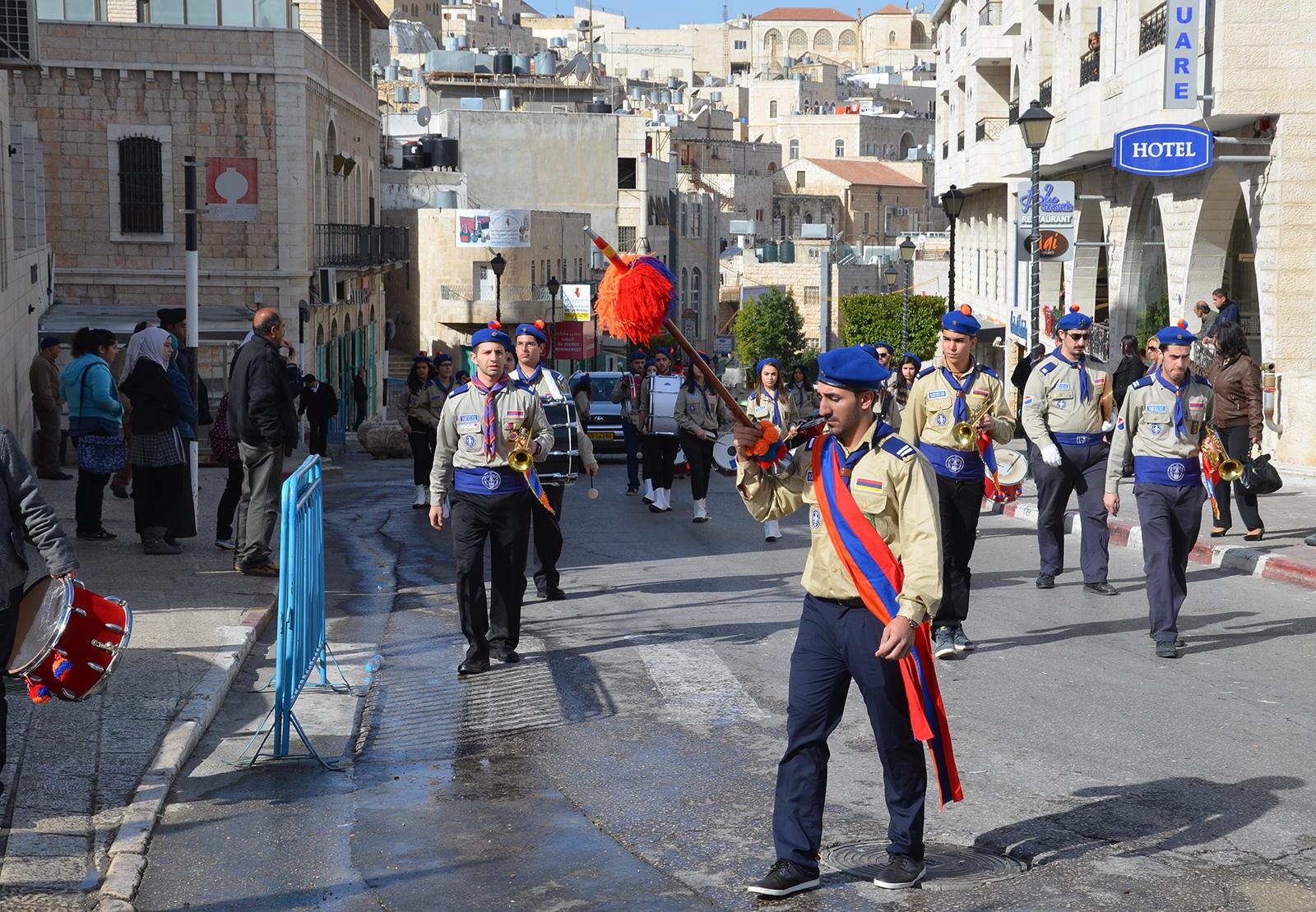 Vojenská přehlídka? v Betlémě, Západní Břeh