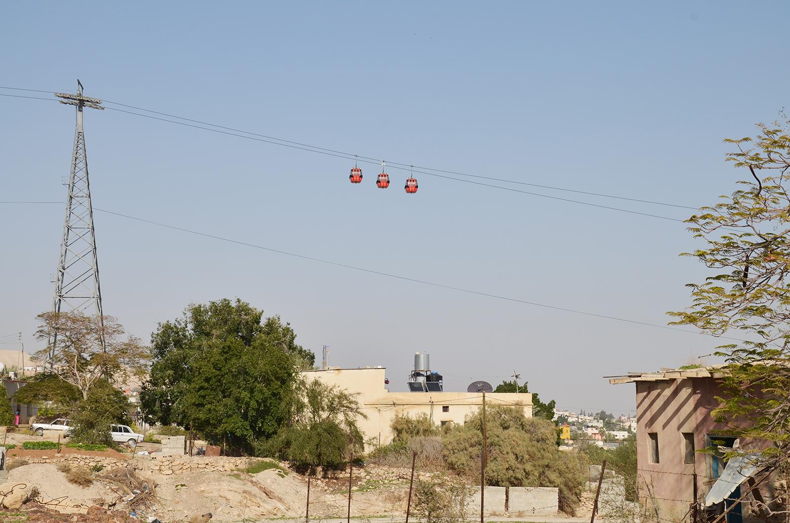 Lanovka na Horu pokušení, Jericho, Západní Břeh