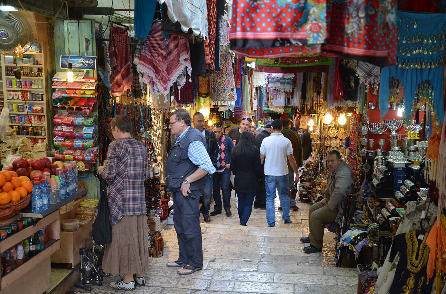 ulička ve Starém Jeruzalémě poblíž Jaffské brány, Izrael