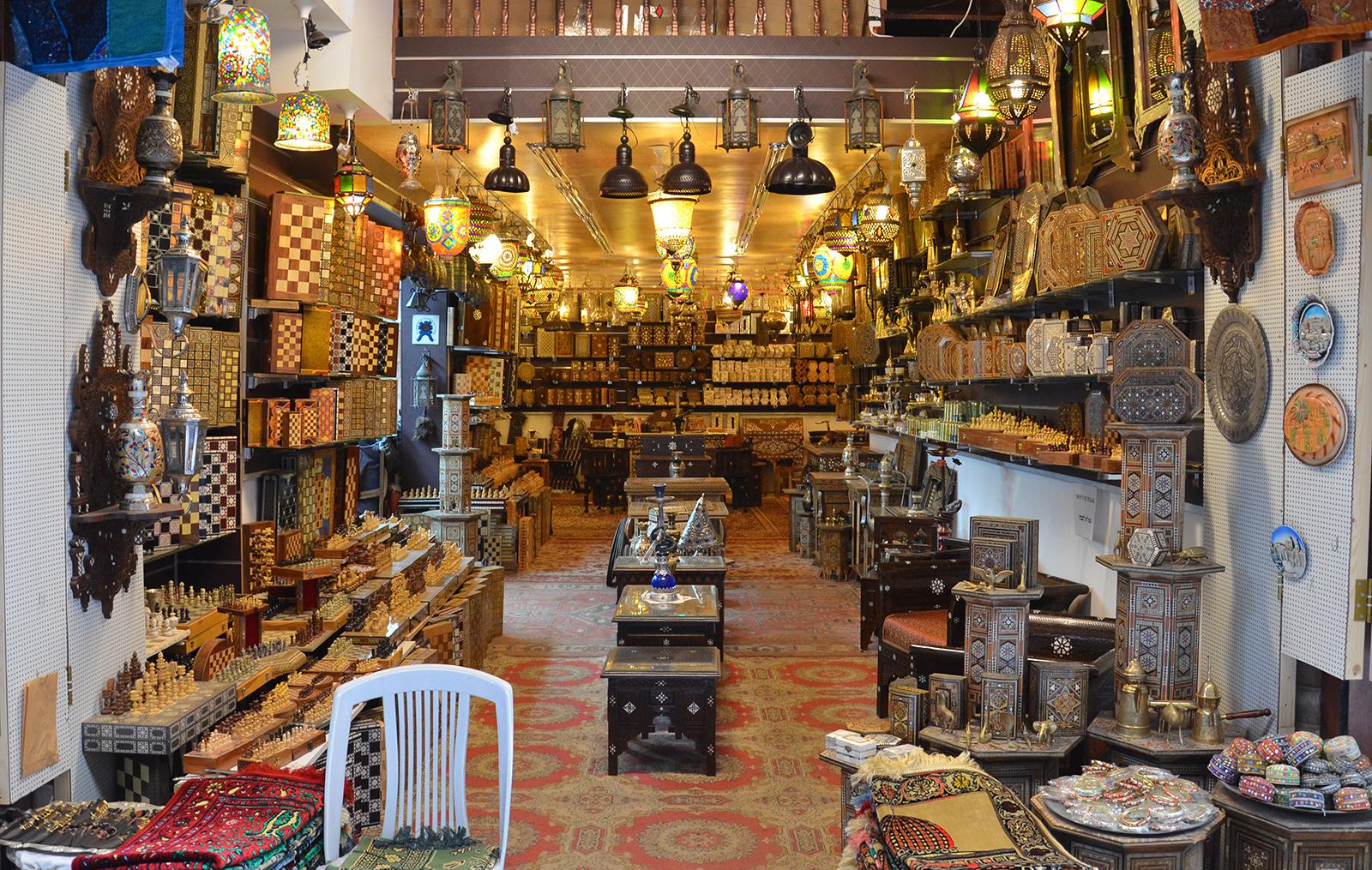 obchod ve Starém Jeruzalémě poblíž Jaffské brány, Izrael