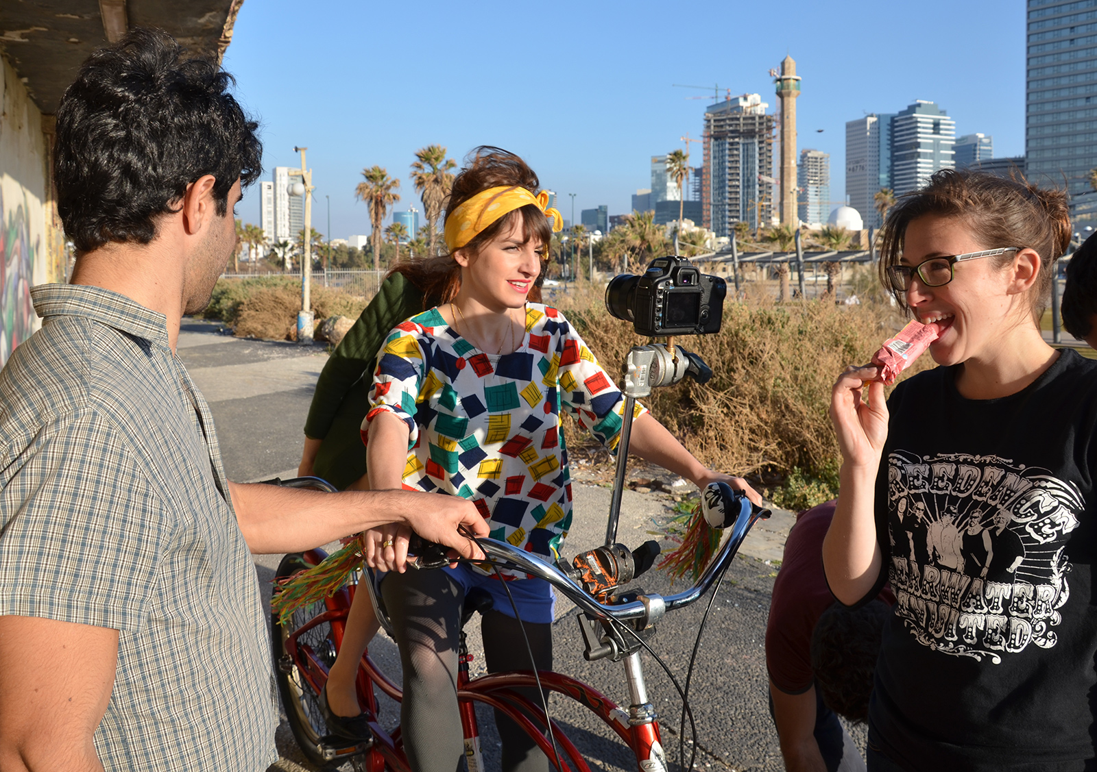 jak se natáčí reklama, Tel-Aviv, Izrael