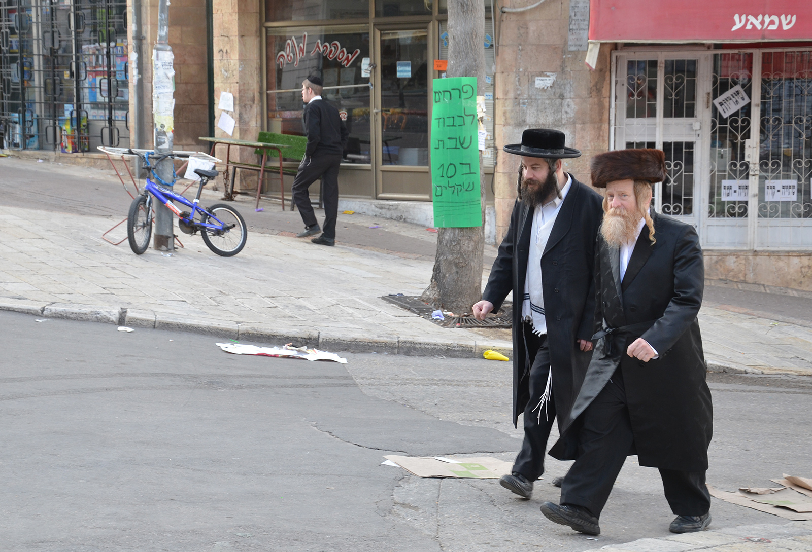 Židé v Mea Shearim, Jeruzalém, Izrael