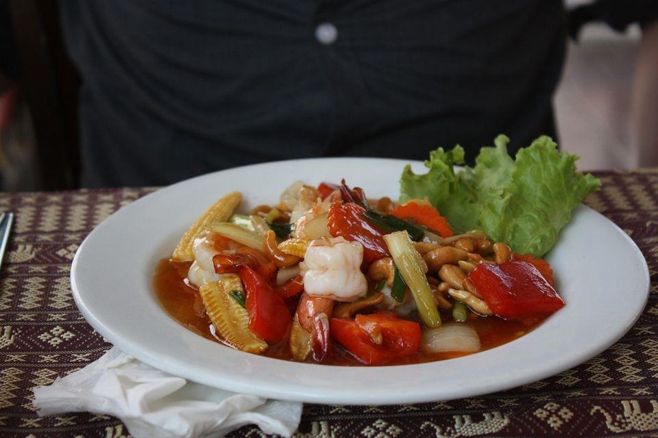 krevety menu restaurace thajsko