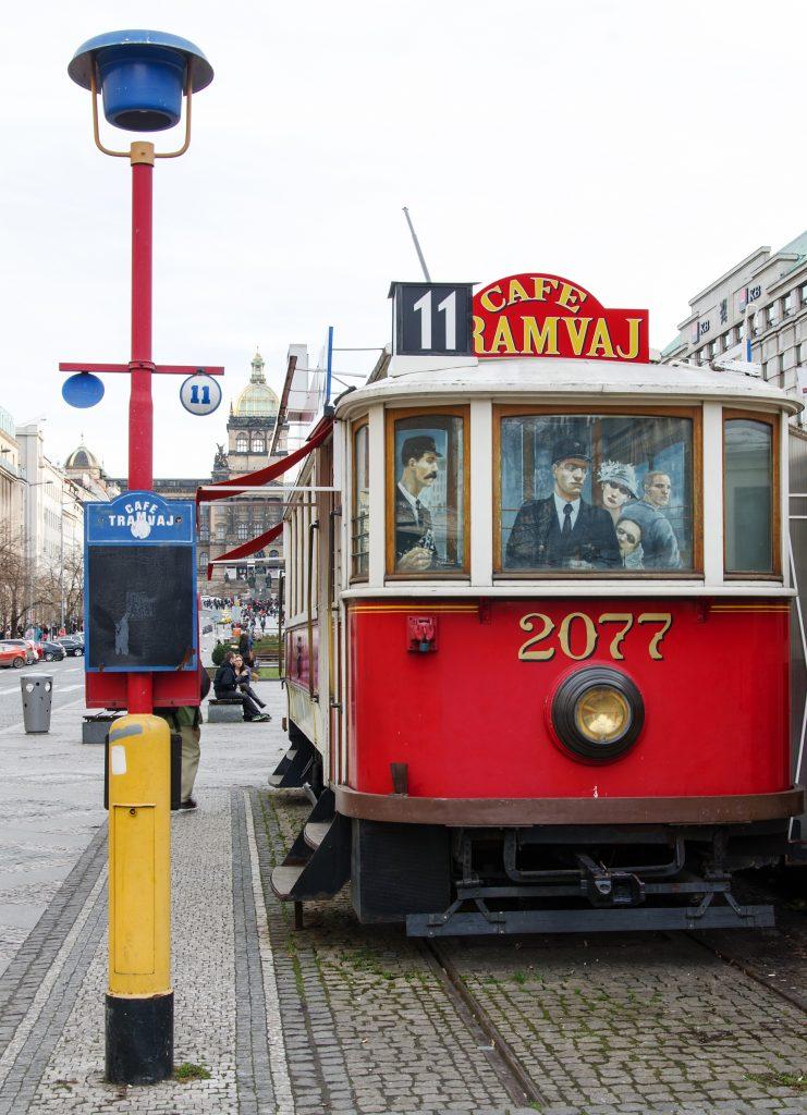 Historická tramvaj václavské máměstí