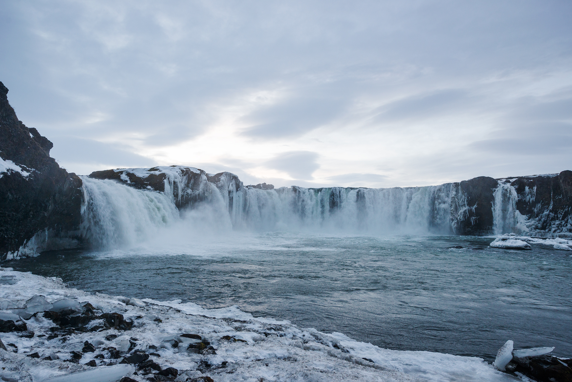 Godafoss icelandic wonder attraction winter days