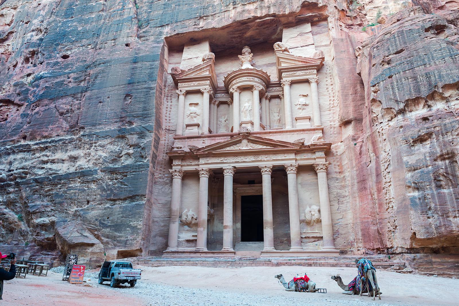 Pokladnice - nejslavnější památka v jordánské Petře