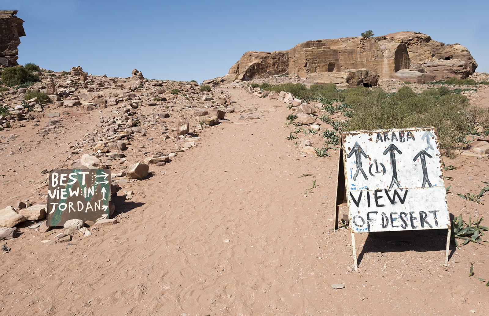 Nejkrásnější výhled na jordánskou poušť