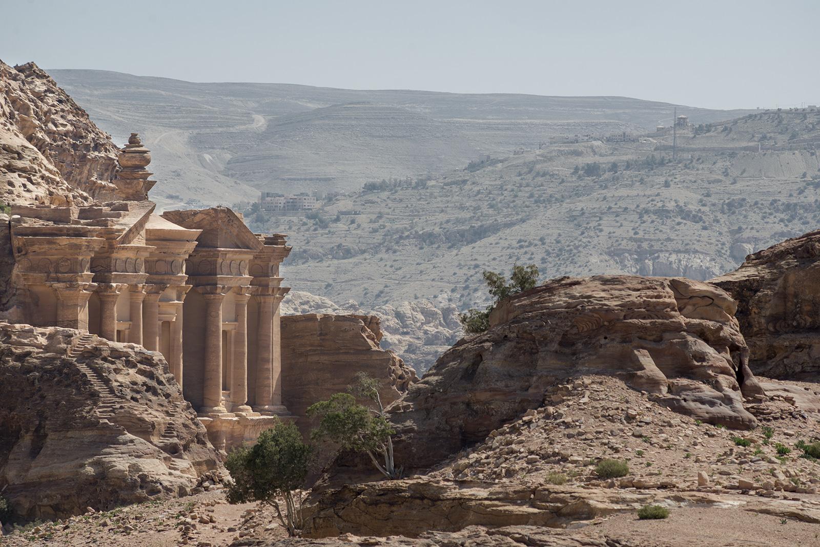 pohled na Klášter v jordánské Petře