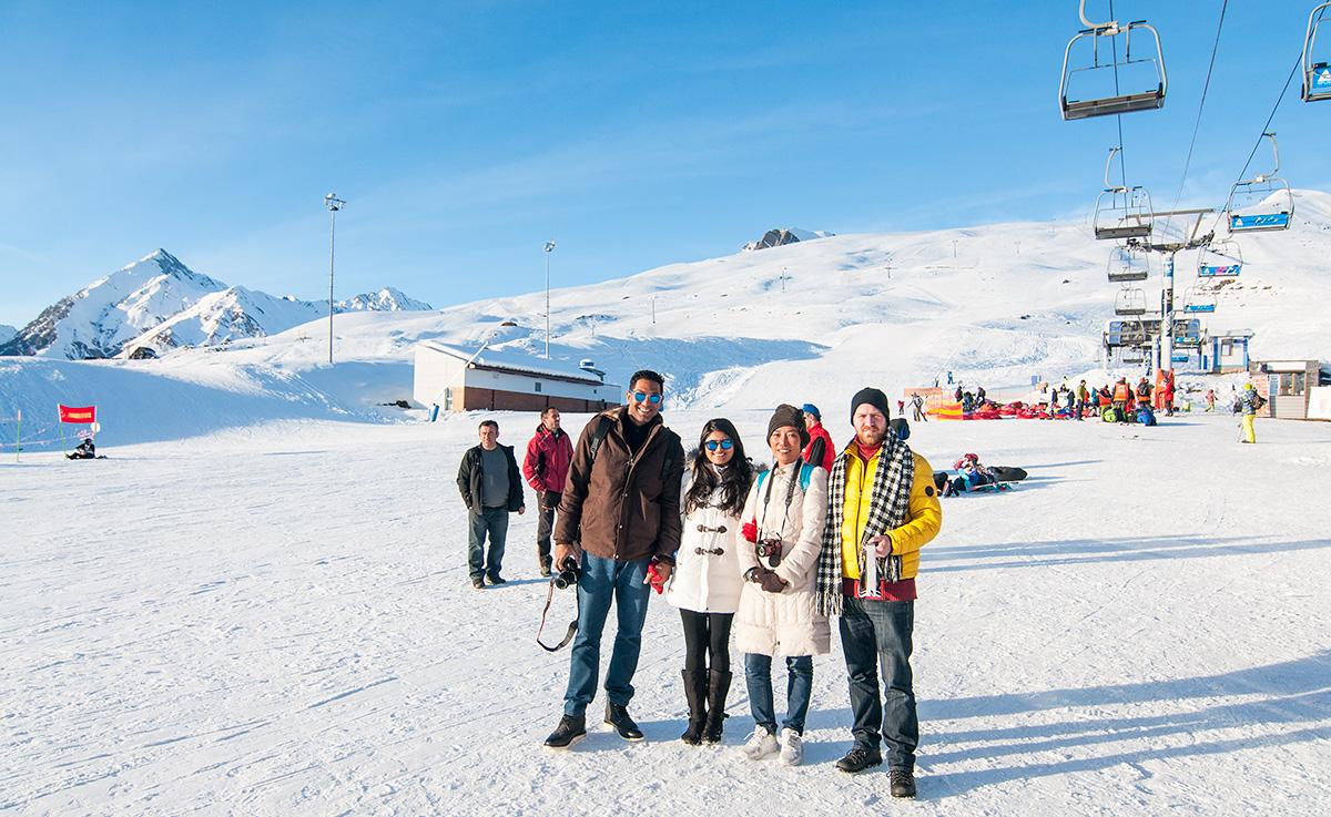 Po tandemovém paraglidu v Gudauri