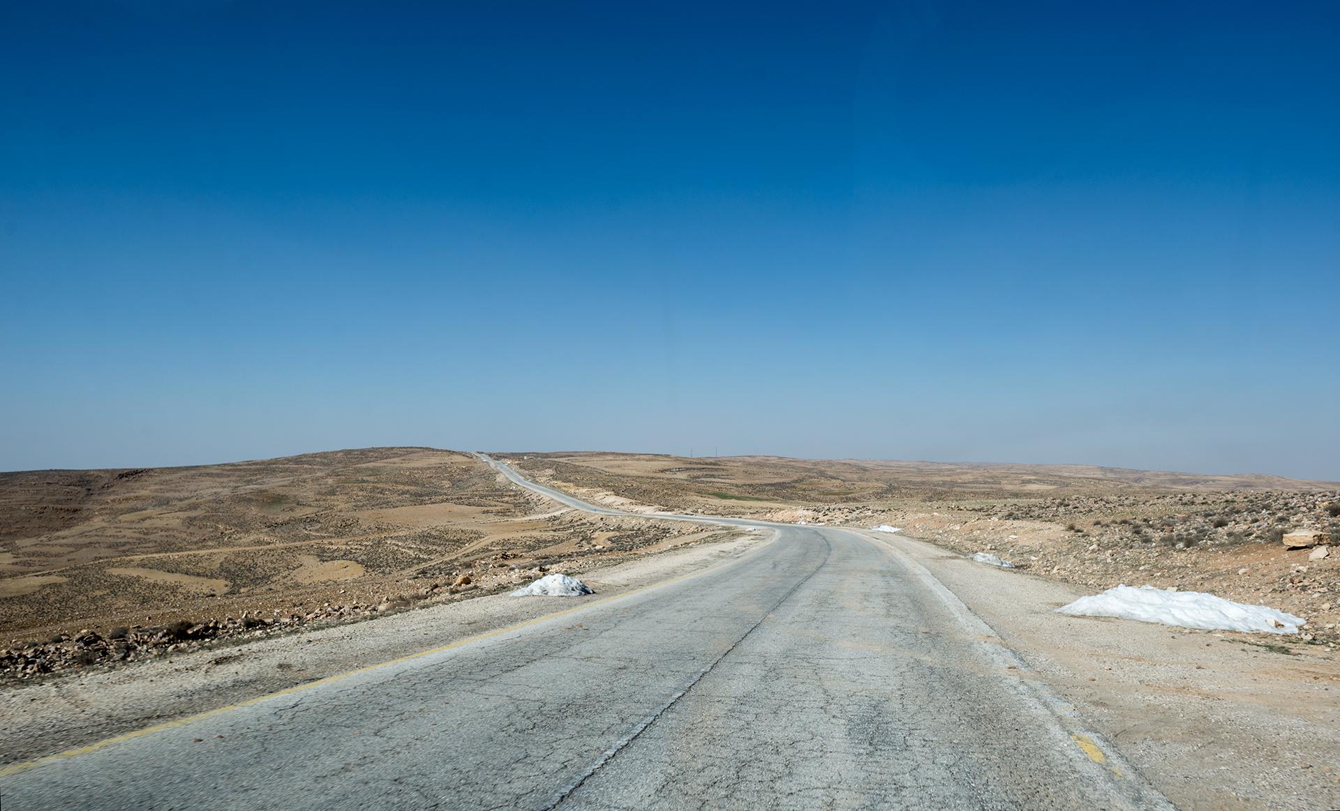 Desert highway v Jordánsku