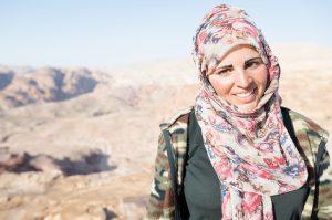 Beduínská žena v Petře - Jordánsko
