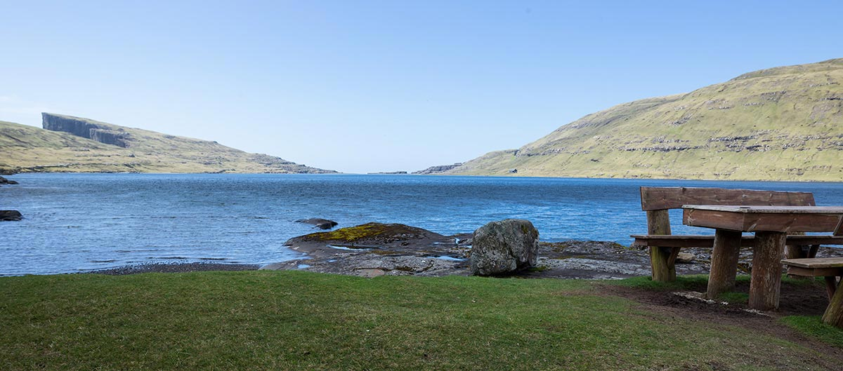 Restplace near Lake Sorvagsvatn