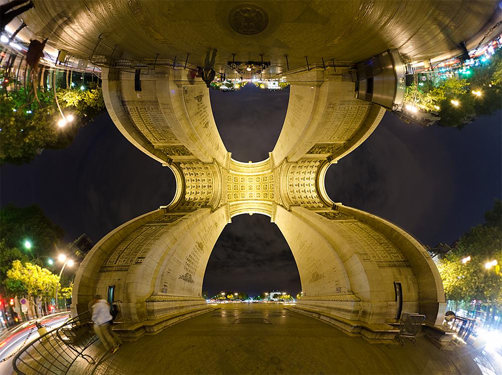 vitezny oblouk panoramaticky pohled