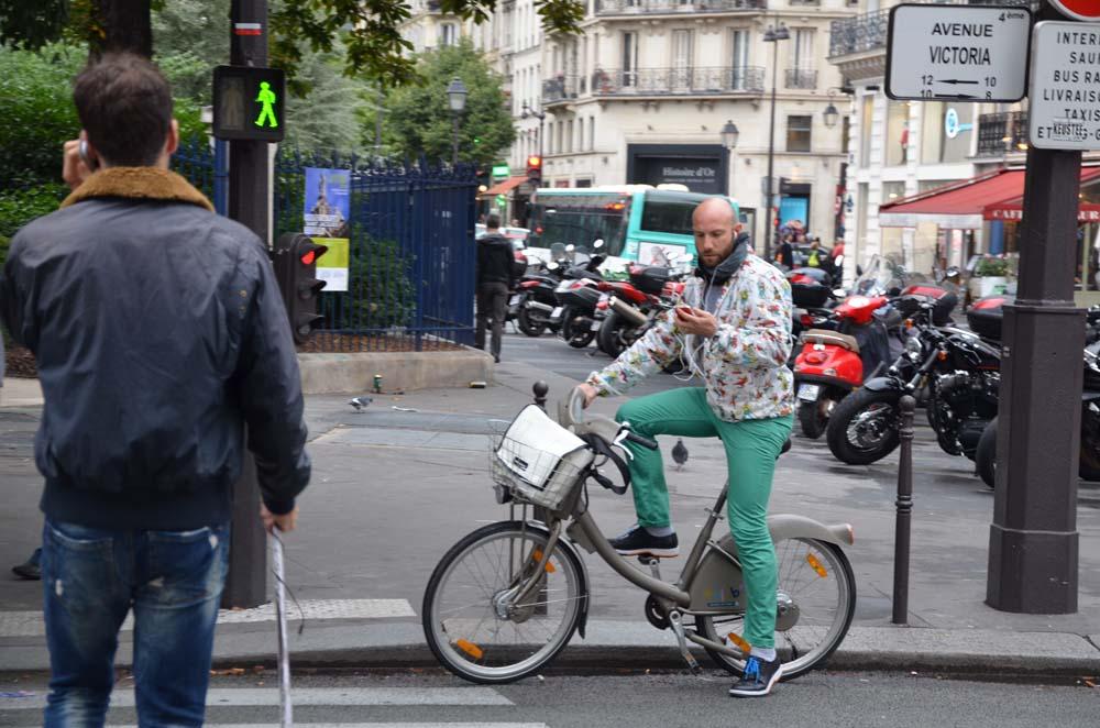cyklista ala francouzska pariz