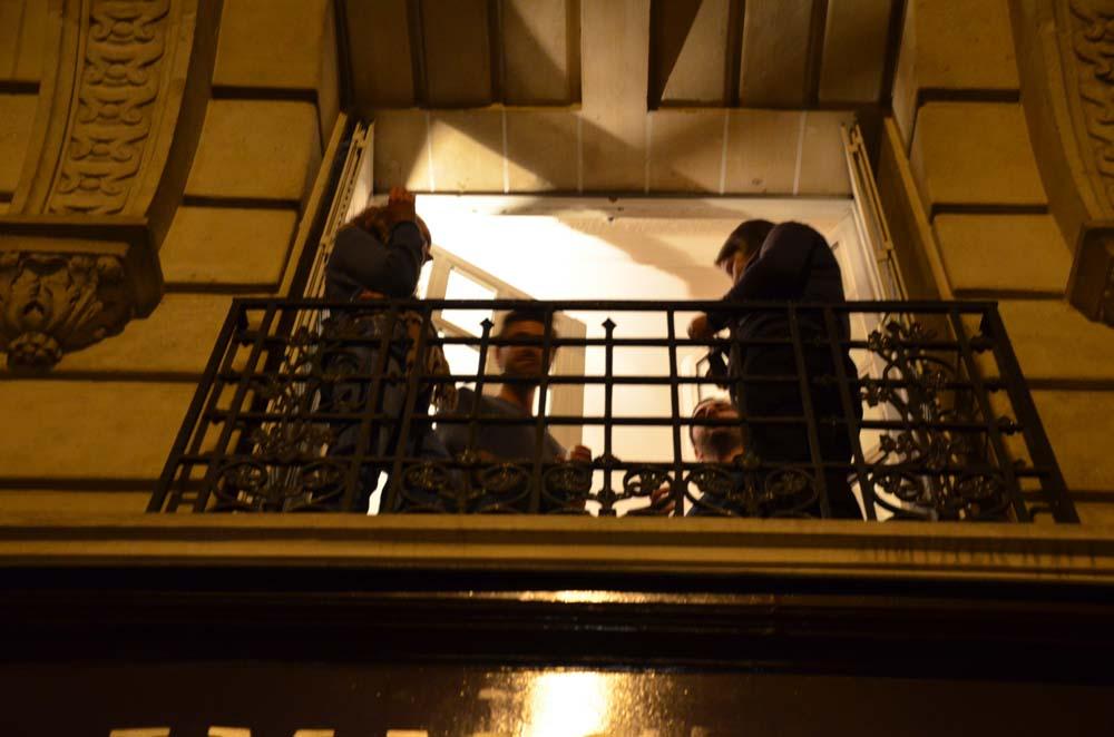 balkonova party ve francouzskem okne
