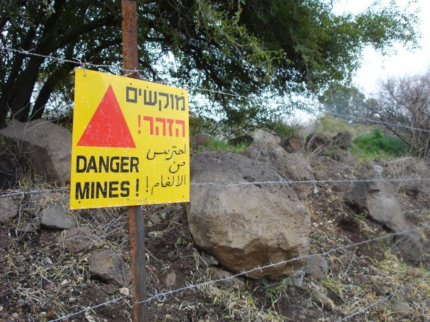 pozor miny izrael golany
