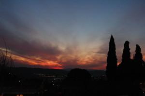 zapad slunce v izraeli