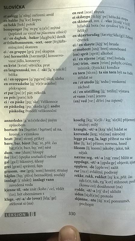 norska ucebnice slovicka
