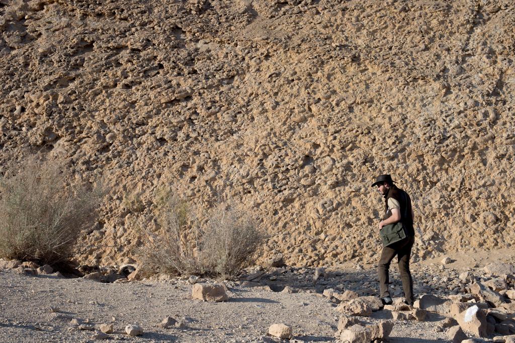 Ammonite wall negev israel