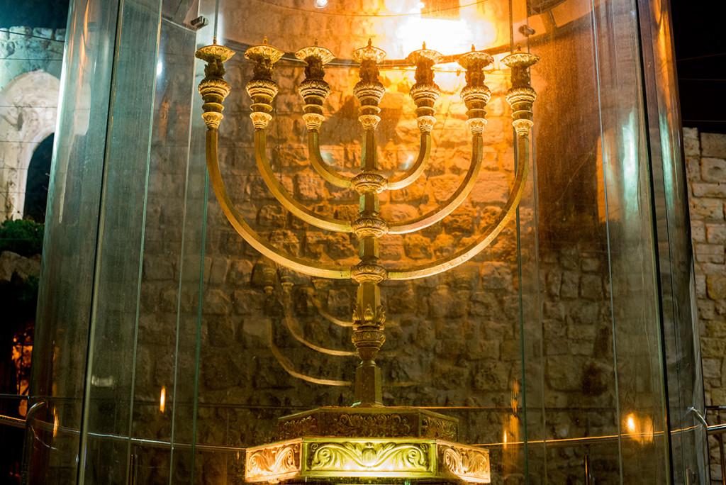 zlata menora jeruzalem