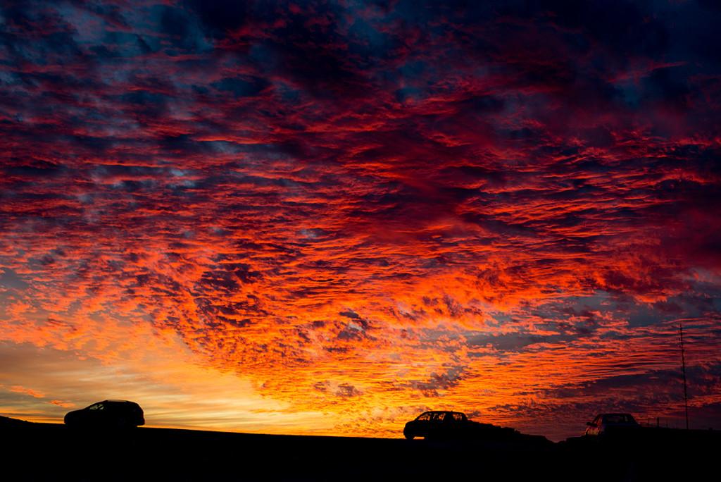sunset mitzpe ramon negev israel