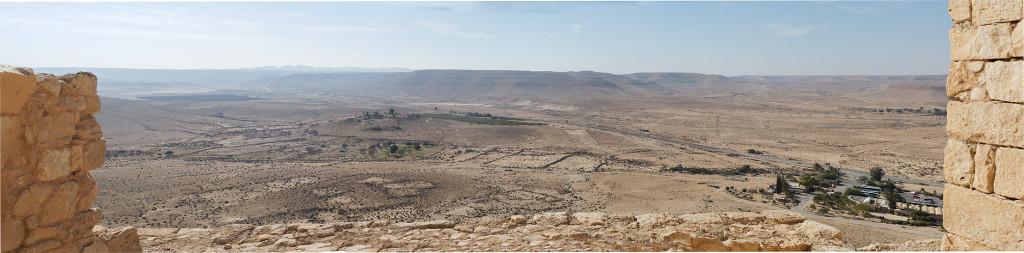Výhled z hradeb města Avdat