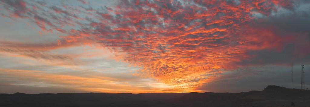 zapad slunce mitzpe ramon negev izrael