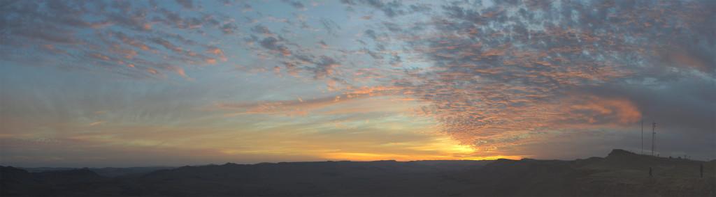 zapad slunce negev mitzpe ramon izrael