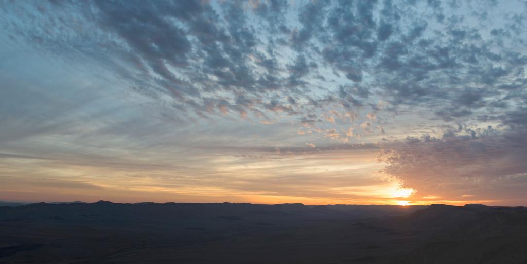 zapad slunce negev izrael