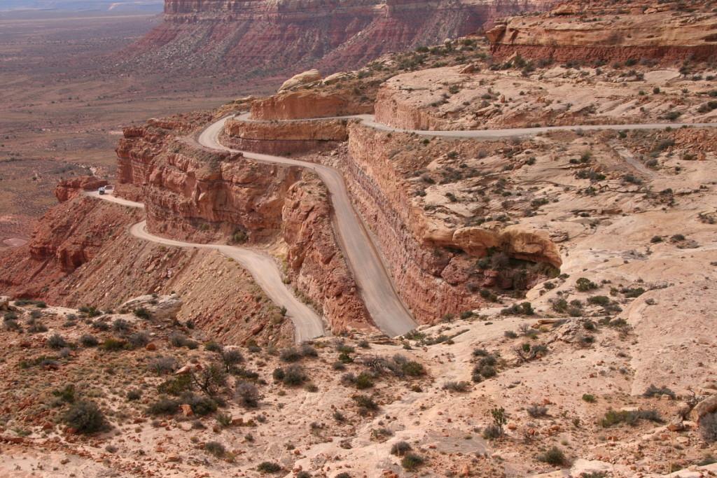 Moki Dugway - státní silnic