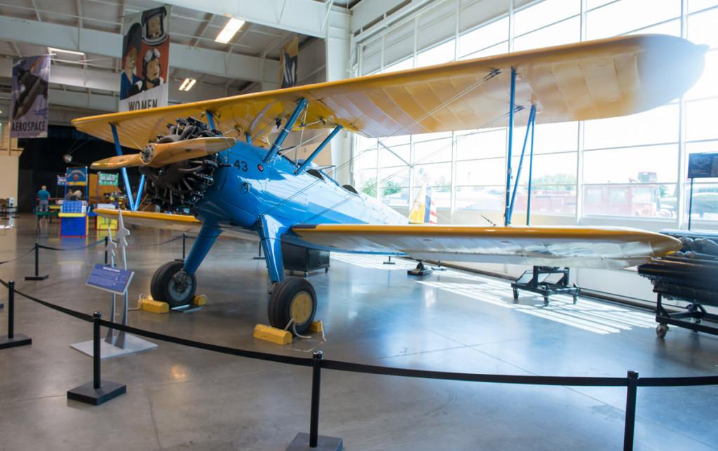 Boeing Stearman v Kalifornské muzeu letectví