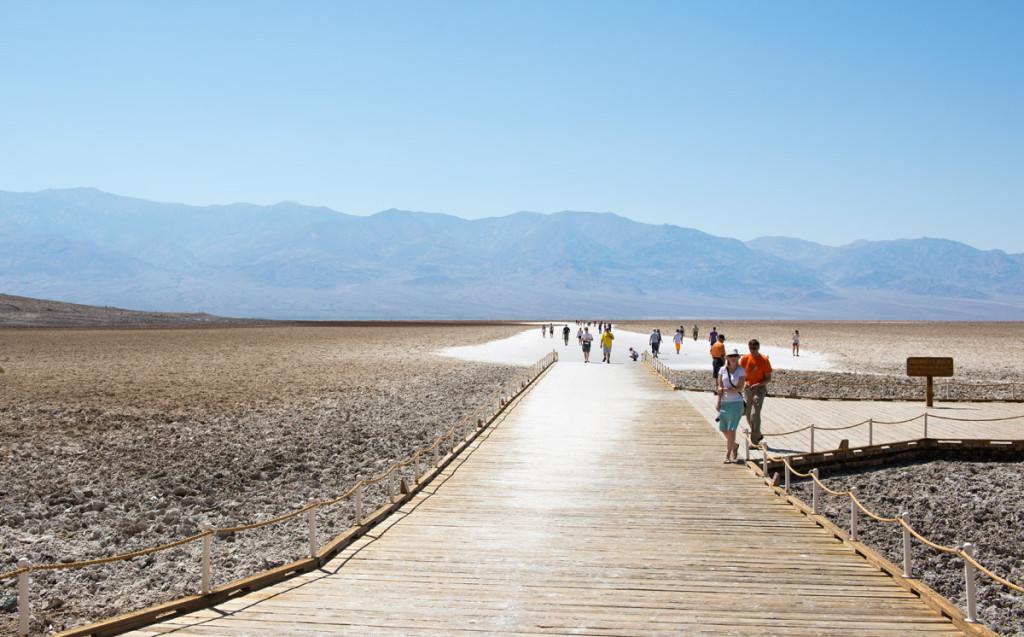 Jezírko zlé vody, Údolí smrti, Kalifornie