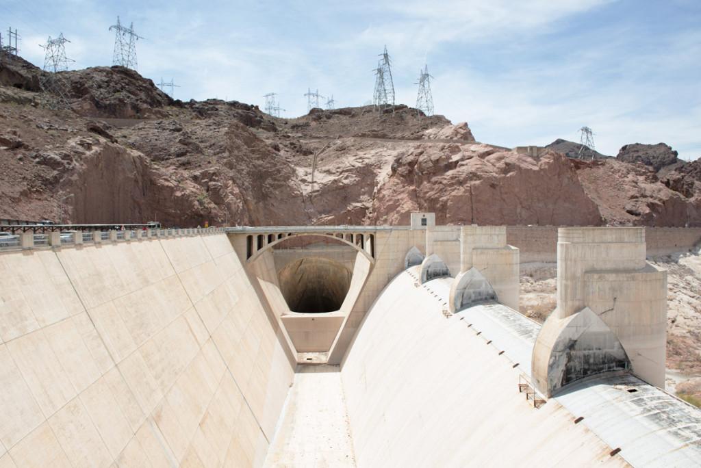 přepadový kanál Hooverovy přehrady