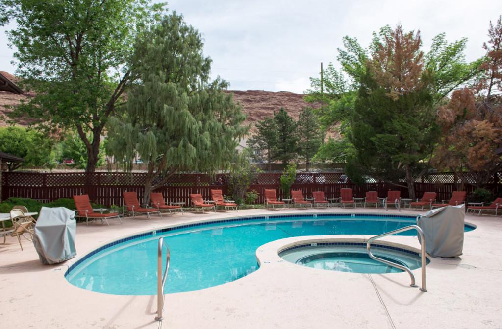 Bazén v motelu Super 8, Moab