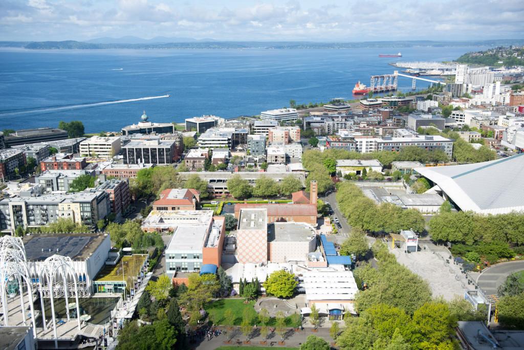 Seattle při pohledu ze Space Needle
