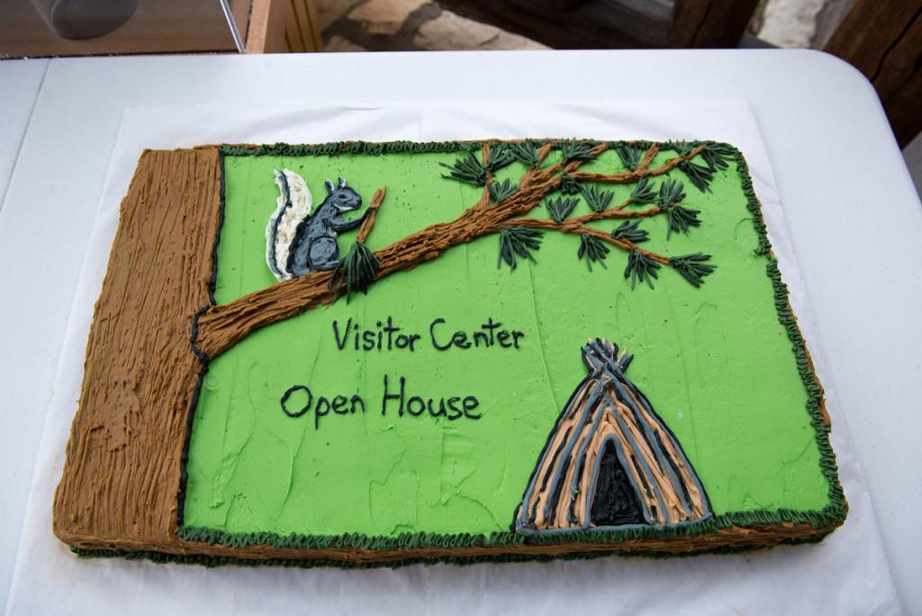 slavnostní dort k otevření Severního cípu