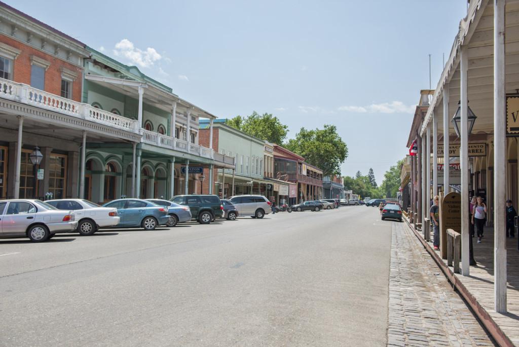 ulice ve starém Sacramentu, Kalifornie