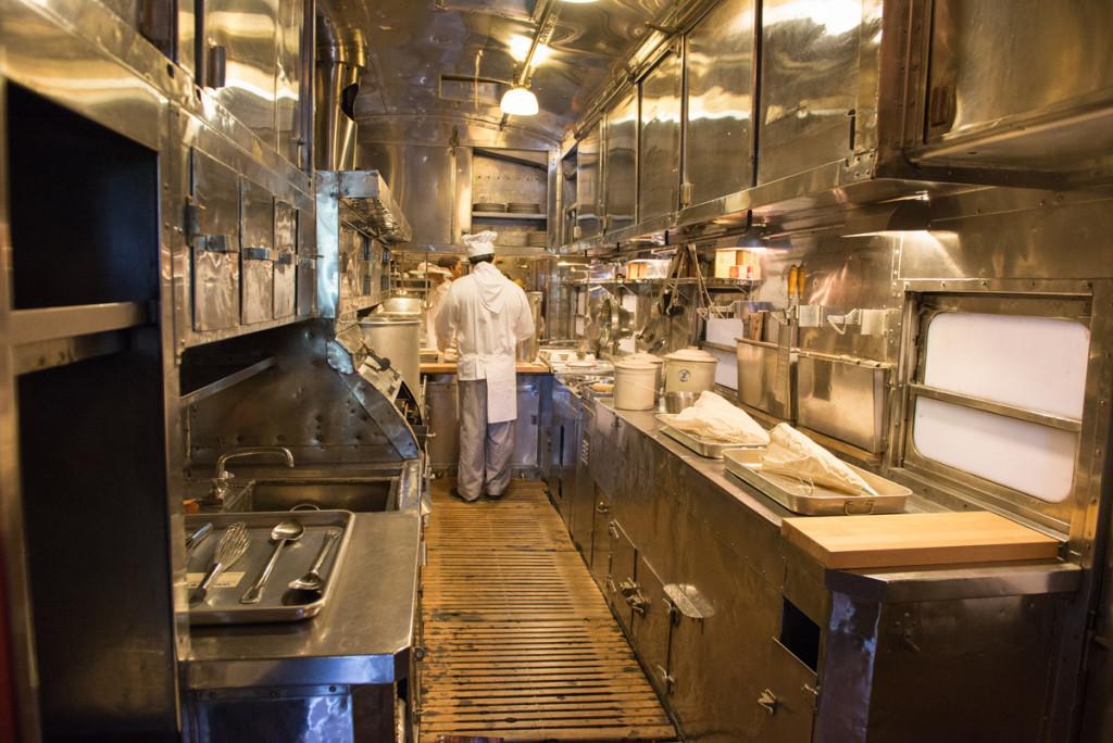 Pojízdná kuchyně, železniční muzeum Sacramento
