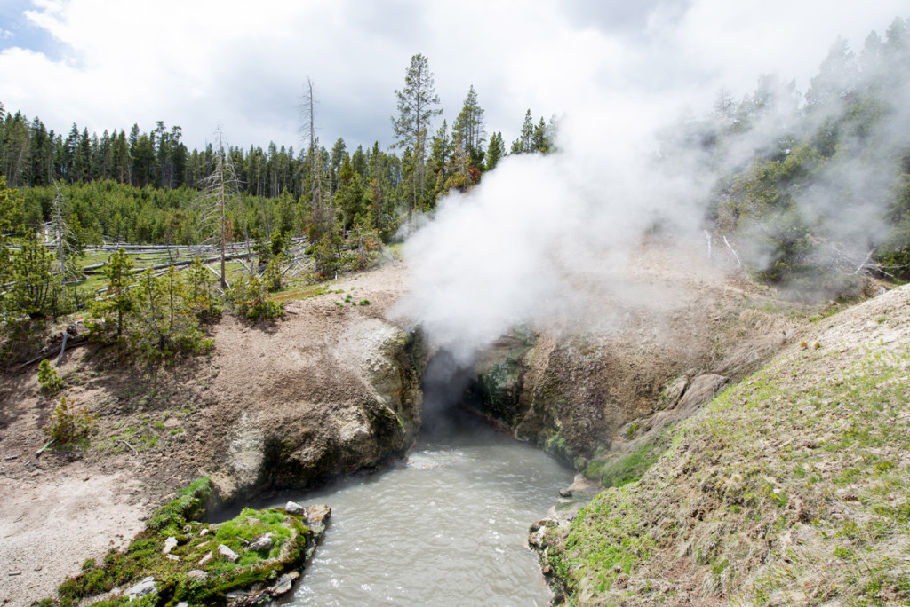 digforfree.com mini dragons-mouth-spring-yellowstone-national-park-haze-steam-vapor-vapour-fog-mist