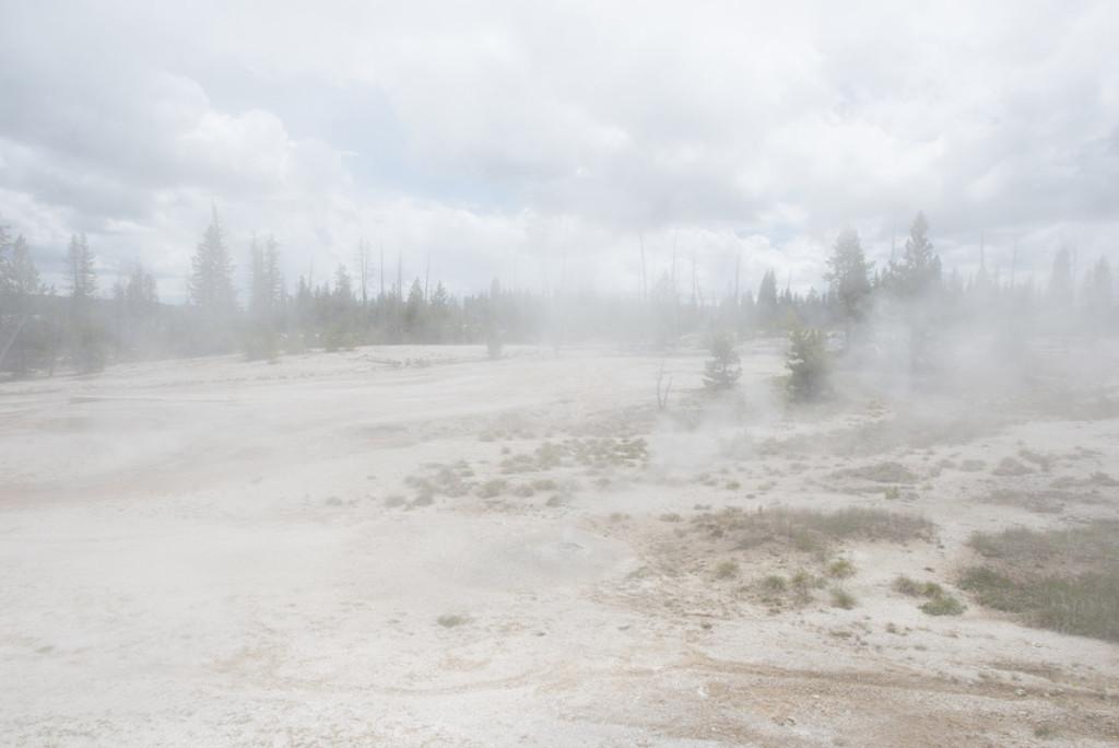 absolutně neprůhledná mlhavá krusta, Yellowstonský NP